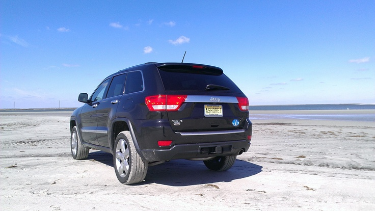 Driving on the beach at the north end