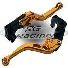 Short Gold CNC Alloy Adjustable GP Brake & Clutch Levers Kawasaki Z1000SX 2013