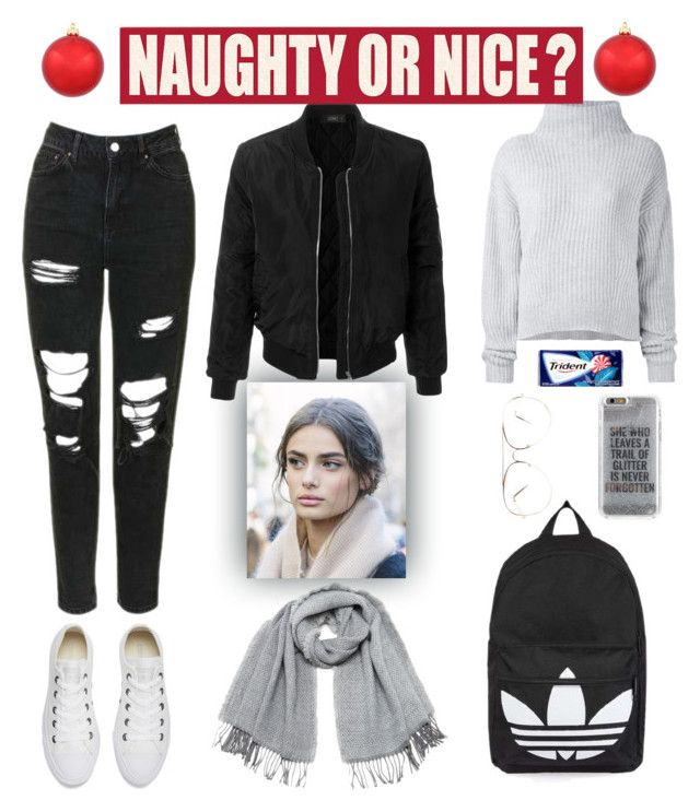 """NAUGHTY OR NICE ?"" by evaskar on Polyvore featuring Converse, Le Kasha, Topshop, Agent 18, Vero Moda, LE3NO and Sixtrees"