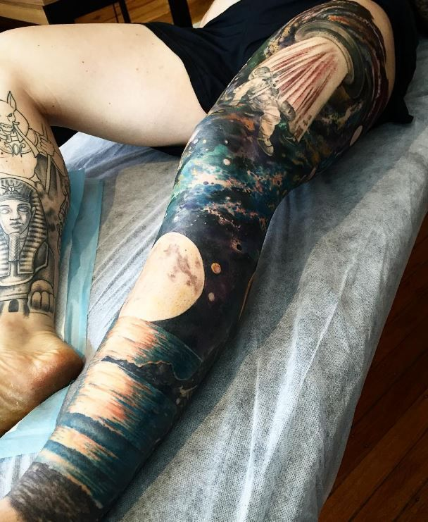 Nature and UFO Leg Sleeve