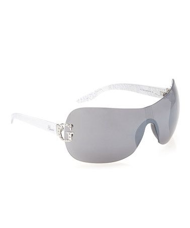 Take a look at this White 'G' Shield Sunglasses - Women by GUESS on #zulily today!