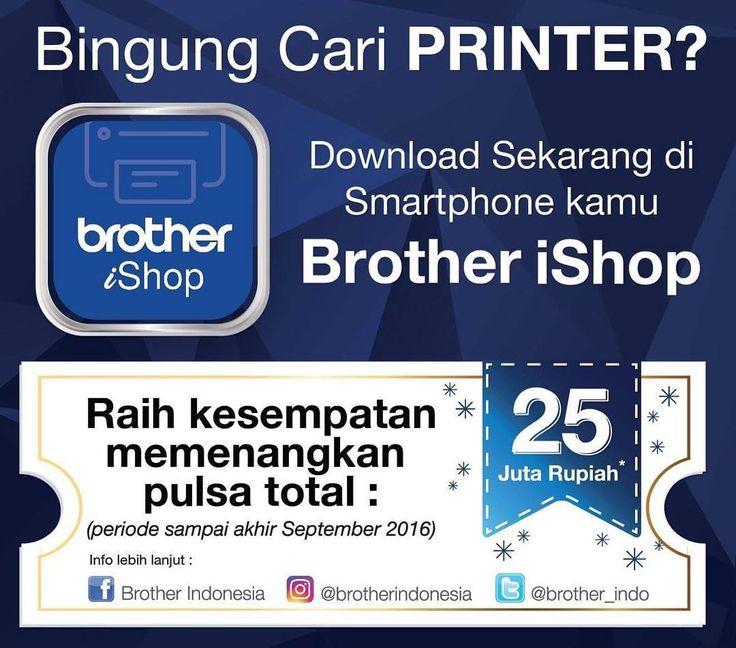 #Brother & #Sister mendapatkan kesulitan saat mencari produk-produk Brother? Kita menghadirkan solusi dengan aplikasi Brother iShop. Selain itu bisa mendapatkan kesempatan memenangkan pulsa loh! Ayo tunggu apalagi!!! #BrotherIndonesia #AtYourSide #BrotheriShop