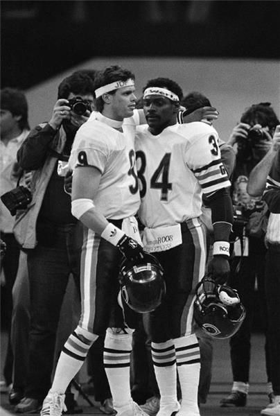 Jim McMahon and Walter Payton, Chicago Bears, 1985