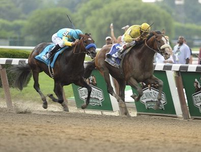 Union Rags sneaks by a game Paynter to win the 2012 Belmont Stakes.