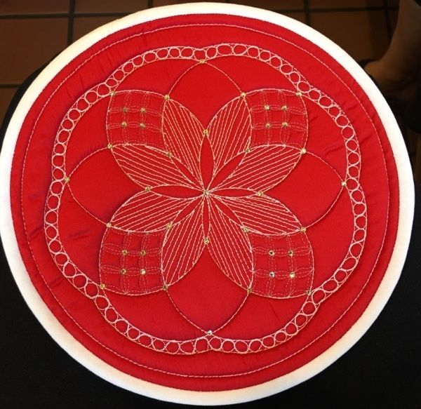 Medallion created by Inger Blood using the circle Ultimate Stencil.