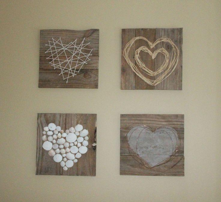 I just love this.  Pallet Heart Art by Julie @ Renew-Create-Restore.blogspot.ca