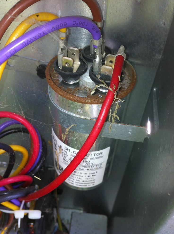 Ac Fan Motor Capacitor Wiring Diagram Air Conditioner Capacitor Connections Outside Air