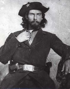 """*WILLIAM T. """"Bloody Bill""""Anderson (1838 – 1864) & THE CENTRALIA MASSACRE: possibly the war's deadliest+most brutal guerrilla action,his men killed 24 Union soldiers on the train+set an ambush later that day that killed more than 100 Union militiamen.A mo.later, Anderson was killed in battle. Historians have made disparate appraisals of Anderson:some see him as a sadistic,psychopathic killer,but for others,his actions cannot be separated from the general lawlessness of the time."""