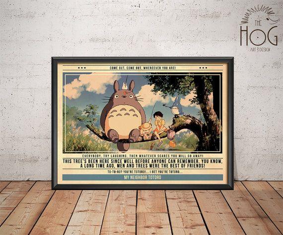 Mon voisin Totoro - citation affiche rétro - film Legends Series - Tonari aucun Totoro 1988