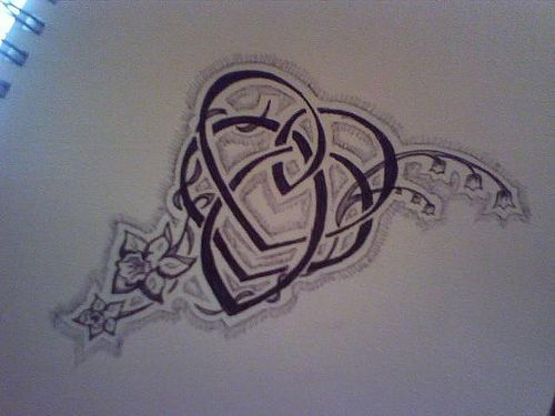 i love this celtic knot of motherhood, especially since lily of the valley is also one of my favorite flowers!