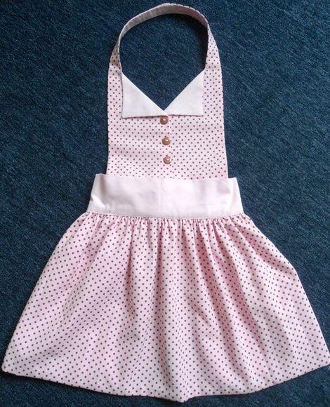 Avental infantil forrado e em tecido 100% algodão. Jardin de Fil make it look more ballerina like for Nina