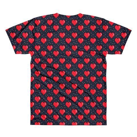 LA Supply Co 8 Bit Love Hearts Crewneck T-shirt