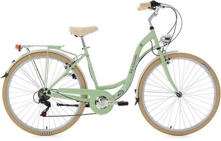 KS Cycling Damen-Cityrad, 28 Zoll, mintgrün, Shimano 6 Gang-Kettenschaltung, »Casino«