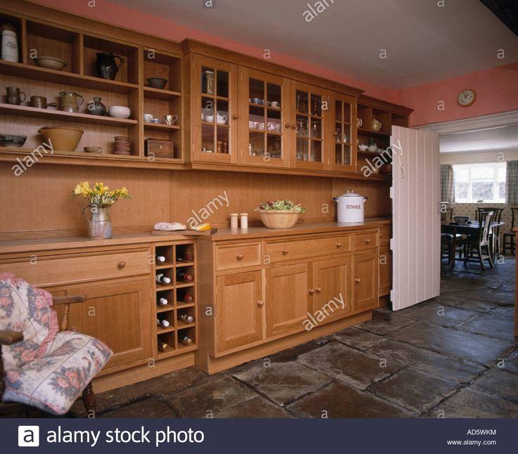Pine Wall Cupboards Kitchen