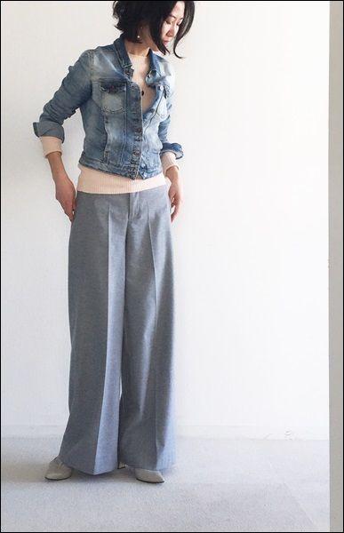 ★春デニムに注目♪大人のGジャン便利な着方 の画像 STYLE SNAP 大人世代普段着リアルクローズ