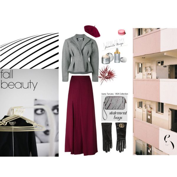 fall beauty by ioanaturcanu on Polyvore featuring Jacquemus, Each X Other, Gucci and La Prairie