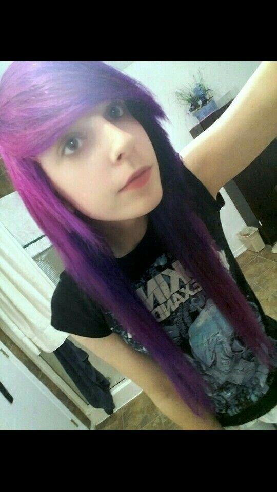 Alternative Scene emo hair Purple Viro Psycho