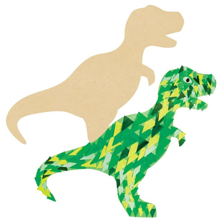 Great wall decoration for kids who love Dinosaurs - Giant Wooden Dinosaur