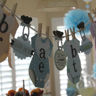 Baby Shower banner announcing babies name