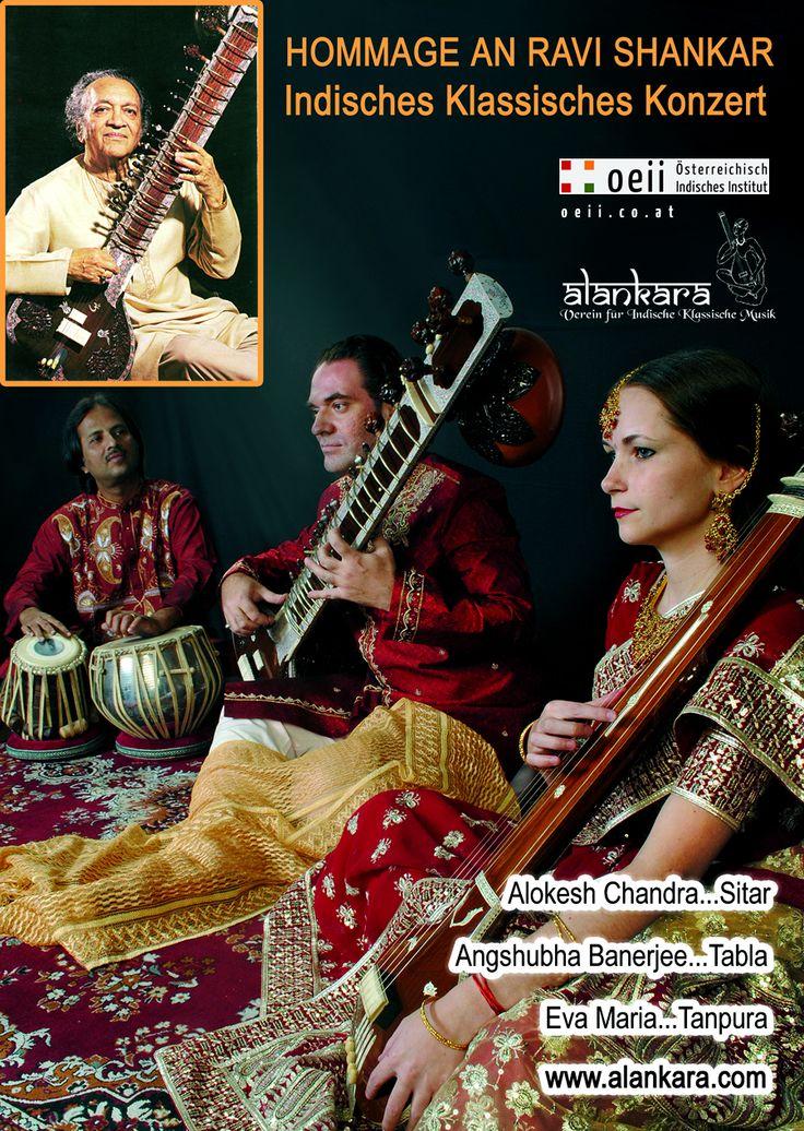 A TRIBUTE TO PANDIT RAVI SHANKAR  Alokesh Chandra performs compositions of his late master  ----------------------------------  Alokesh Chandra (Sitar)  Angshubha Banerjee (Tabla)  Eva Maria (Tanpura)  ----------------------------------  // ► APRIL 06, 2013 | WIEN - advance booking: 01/5870530  // ► APRIL 17, 2013 | GRAZ - advance booking: 0650/5706989  // ► APRIL 18, 2013 | KLAGENFURT - advance booking: 0676/9542923  // » all infos: http://oeii.co.at/ !