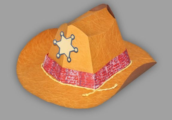 Cowboyhut selbst gebastelt