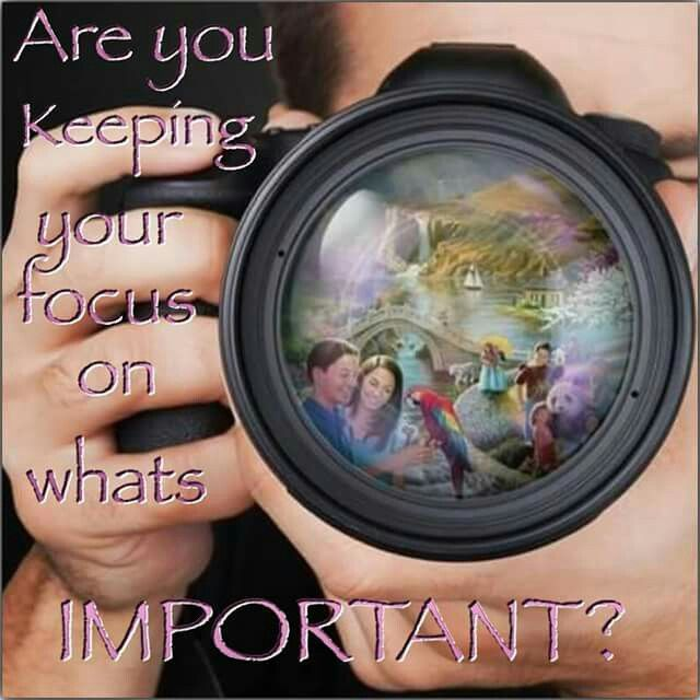 Be like a camera :) focus on what's important.                                                                                                                                                                                 More