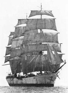 The Balclutha - picture was taken around the time she was used in Mutiny on the Bounty - she was named The Pacific Queen then.