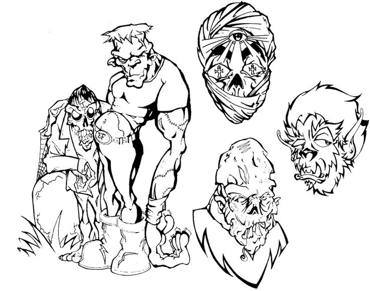 scary tattoos coloring pages - photo#27