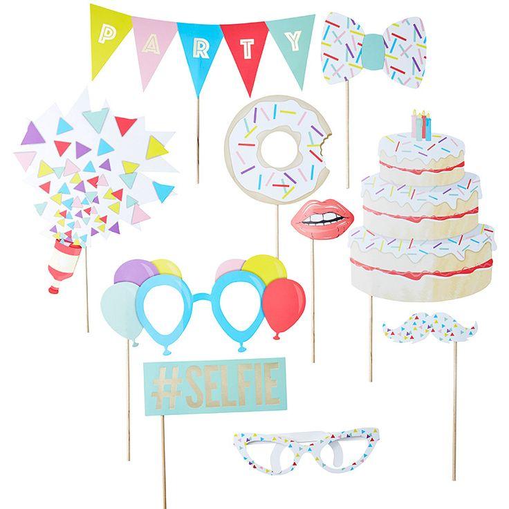 Accesorios para Photocall Cumpleaños - Comprar Online {Miles de Fiestas}