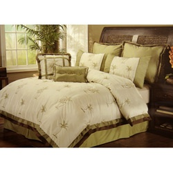 @Overstock - A fun, tropical pattern featuring palm trees graces this Boca Raton comforter set. Including a comforter, bedskirt, two shams, two Euro shams, and two decorative pillows, this bedding ensemble is a great addition to any decor.http://www.overstock.com/Bedding-Bath/Boca-Raton-8-piece-Comforter-set/5189835/product.html?CID=214117 $97.99