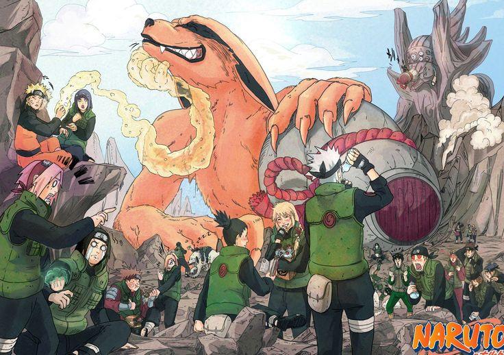 Anime Naruto  Kurama (Naruto) Hinata Hyūga Naruto Uzumaki Sakura Haruno Neiji Hyuga Chōji Akimichi Ino Yamanaka Shikamaru Nara Kakashi Hatake Jūbi (Naruto) Sai (Naruto) Rock Lee Gaï Maito Kiba Inuzuka Akamaru (Naruto) Wallpaper