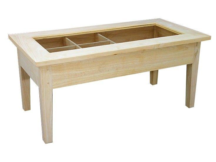 Hévéa Basse Ouvrable Table Et 90x45x41cm Vitré Bois Plateau dexrWCBo