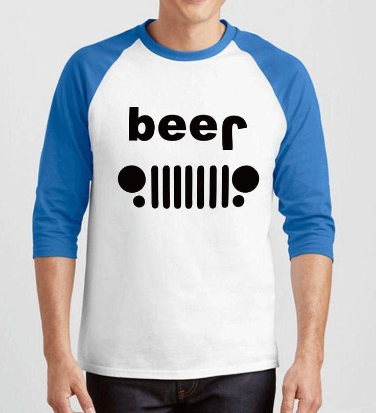 2017 three-quarter sleeve brand clothing Beer Off Roading Drinking funny T-Shirt men hip-hop cotton camisetas raglan fitness tee #Affiliate