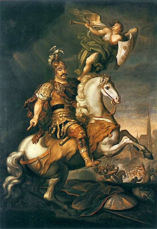 Painting of King John III Sobieski after the Battle of Vienna against the Ottoman Turks,