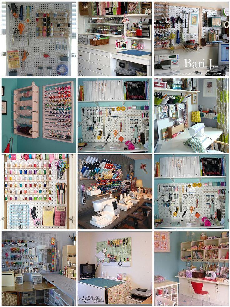 Favorite Supply Walls | 1. peg board, 2. My Scrap Desk, 3. W… | Flickr