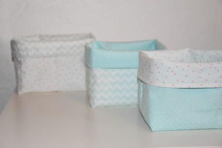 Lot de 3 paniers de rangement en tissu  !  Vous pourrez utiliser ces paniers pour un rangement pratique dans toutes les pièces de la maison... Idéalement dans la chambre d'une  - 20191358