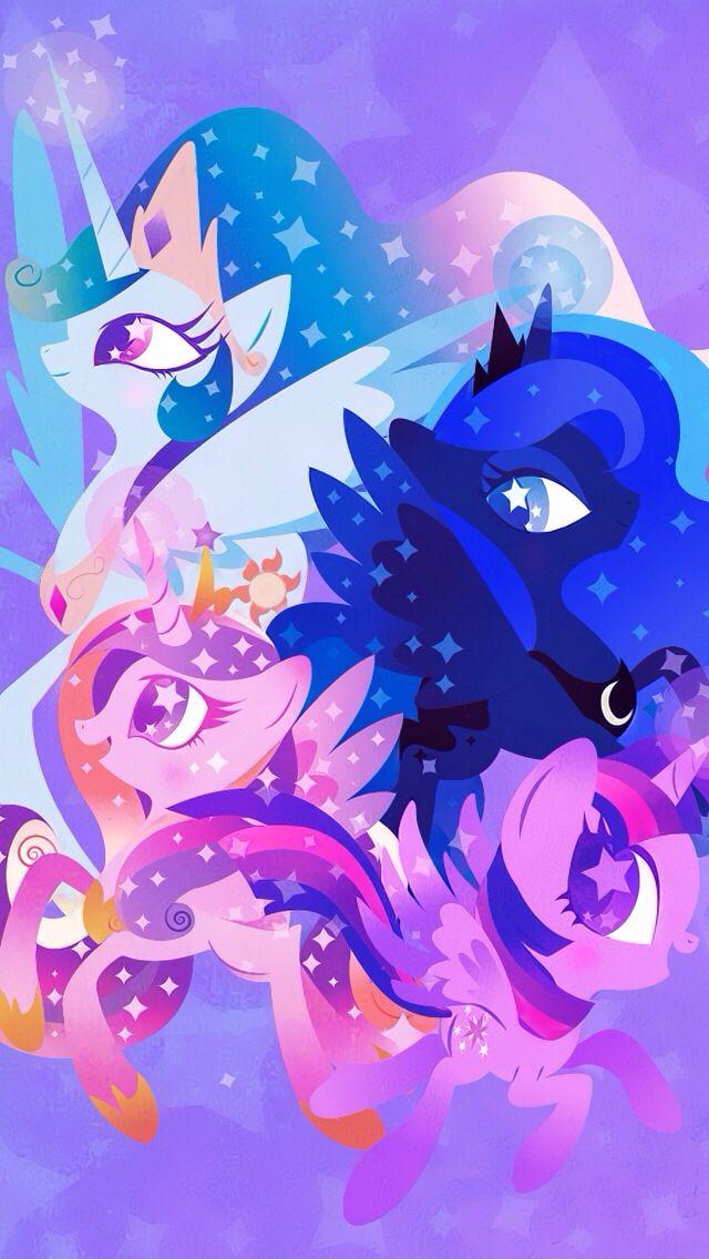 Twilight Luna Celestia Philomena Wallpaper