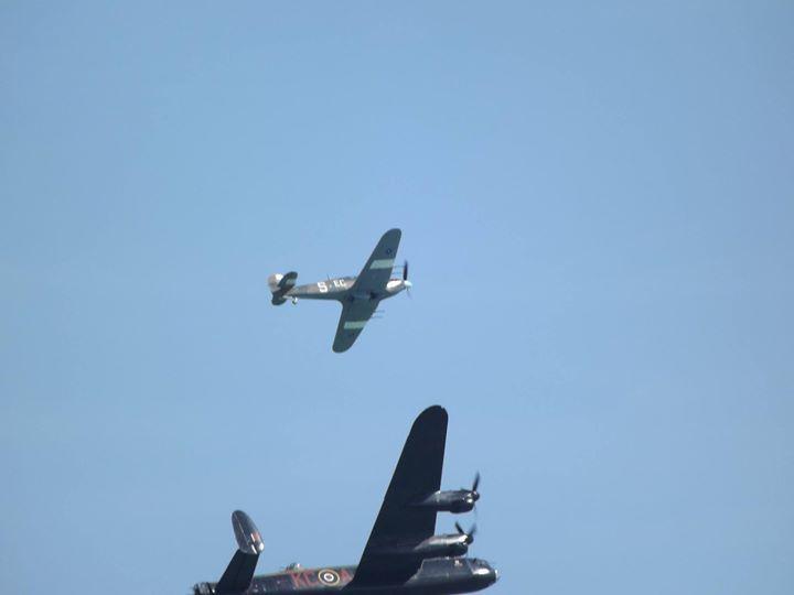 Eastbourne Airshow - 13/08/2016 - Battle of Britain Memorial Flight - Avro Lancaster Supermarine Spitfire & Hawker Hurricane