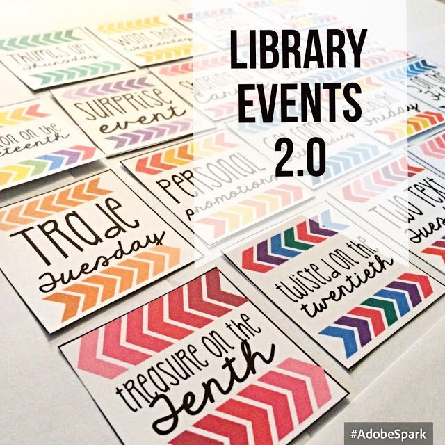 Library Events 2.0 with FREEBIE