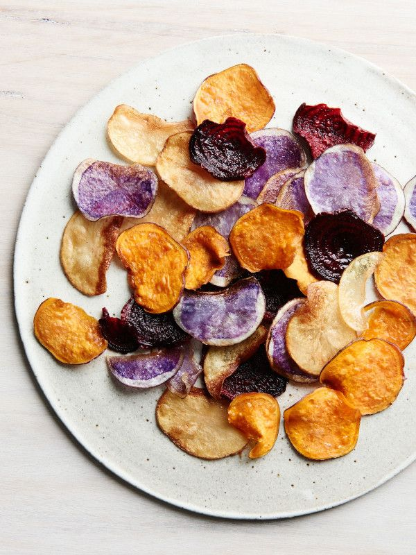 Potato crisps fried in coconut oil. Styling – Lucy Feagins / The Design Files, styling assistant – Nat Turnbull, photo – Eve Wilson.