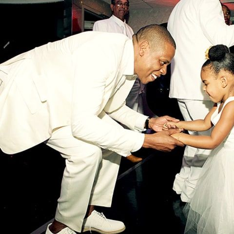 Jay Z and Blue Ivy dancing at Tina's wedding