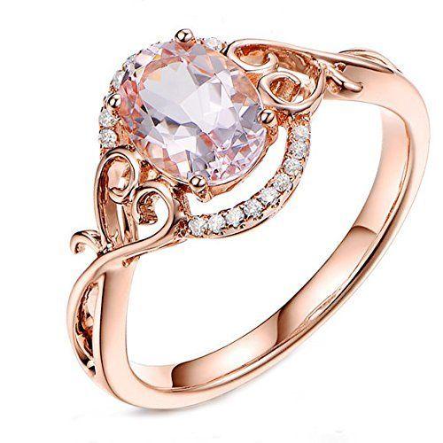 Floral 6x8mm Oval Pink Morganite Diamonds,Filigree 14K Rose Gold Engagement Wedding Ring, http://www.amazon.com/dp/B00NID3REM/ref=cm_sw_r_pi_awdm_AtsYvb0F744JA