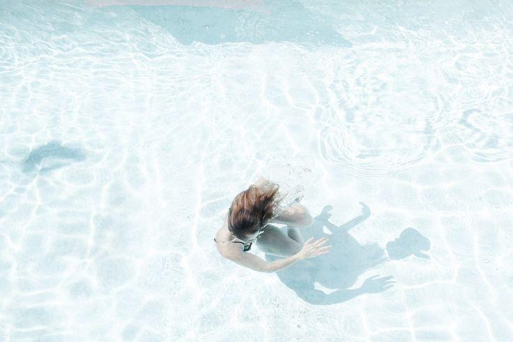 mujer, piscina, baño, agua, ondas, reflejos, 1708211142