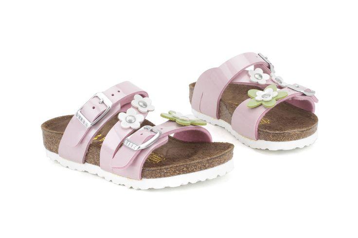 Birkenstock Salina Flower 023293 Narrow Youth PS Little Kids Pearly Rose Sandals #Birkenstock #Sandals