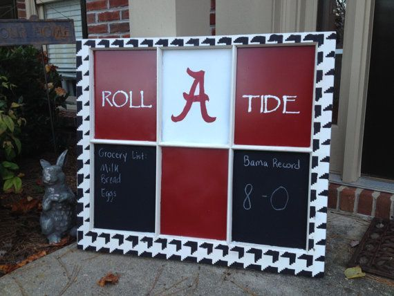 Alabama Roll Tide Window Pane by PolkaDachDesigns on Etsy, $85.00