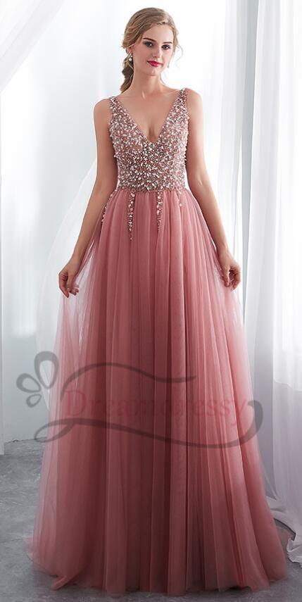 d3d14b4fbe70 elegant prom dresses formal evening dresses, blush pink long prom dresses  with beaded bodice,
