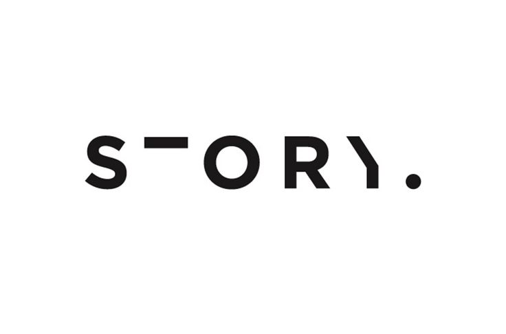 Amazing that it is so easy to read this even though parts are missing. Story logo designed by Toko