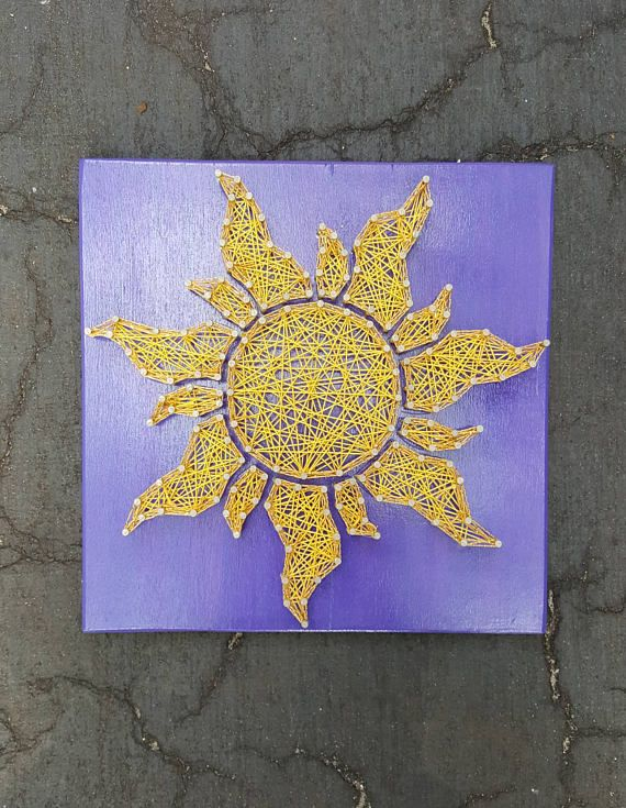 Hey, I found this really awesome Etsy listing at https://www.etsy.com/listing/520334542/rapunzel-sun-string-art-made-to-order