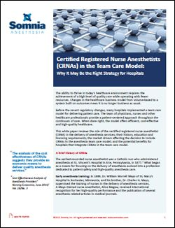Certified Registered Nurse Anesthetist&nbspResearch Paper