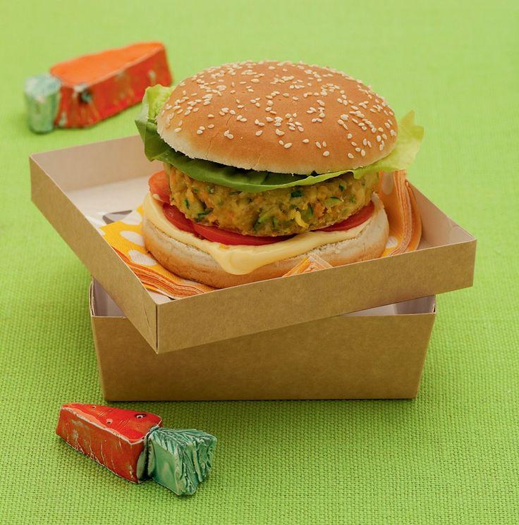 Hamburger vegetariano nel panino...